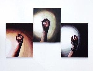Ta Koru, 2013, Acrylic on Canvas, 35x52cm (x3)