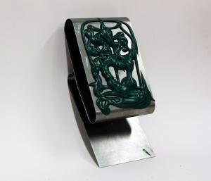 Phil (366) 2011, Acrylic Paint on metal, 12x25x10cm