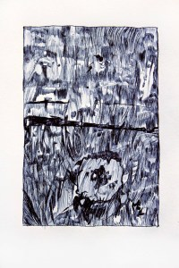 Untitled(2), 2011, Ink on paper, 30x50cm