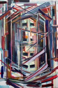 Self Portrait as a Filing Cabinet, 2012, Acrylic on Canvas, 70x160cm