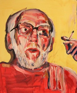Uncle Brian (Study with Bacon) 2012, Acrylic on Canvas, 30x40cm