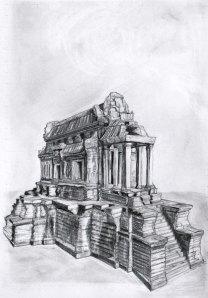 Khmer (one) 2014, graphite on paper, 17x22cm