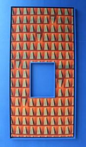 Moana Kaono, Blue Six, 2014, Inkjet print on hessian, 110x240cm