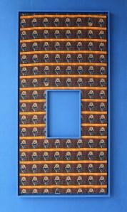 Moana Kahitu, Blue Seven, 2014, inkjet print on hessian, frames, 110x240cm