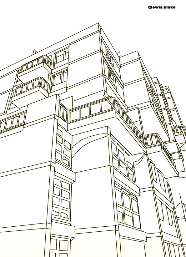terrassenhaus black and white